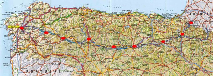 North Of Spain Map.Map Of North Spain